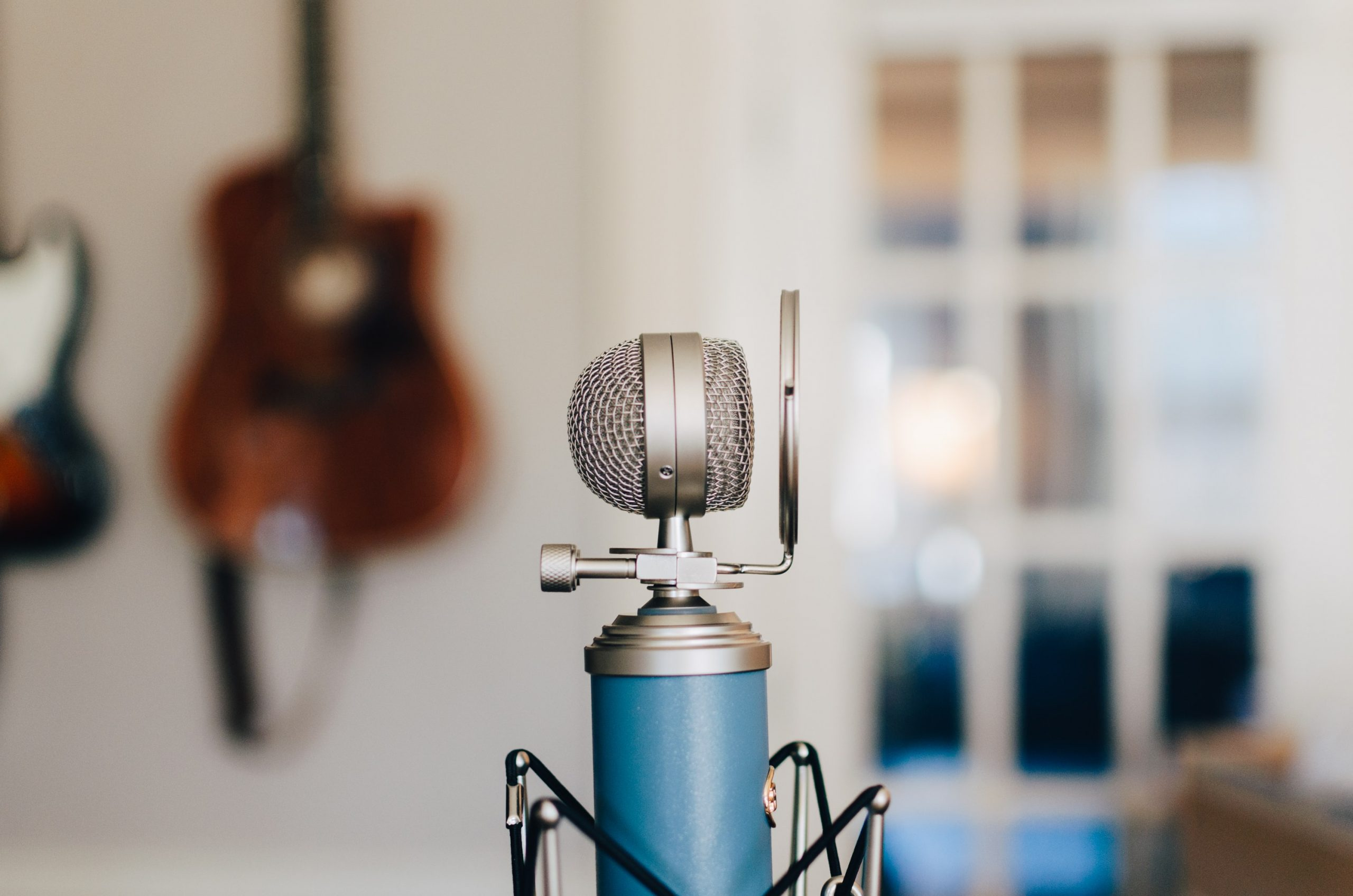 Photo of a recording mic.
