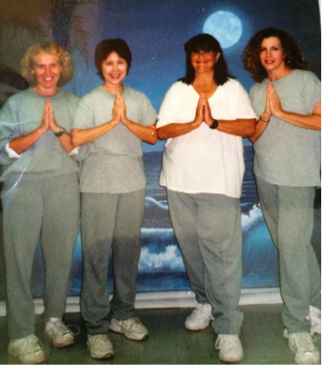 Beatrice Codianni (third from left) with 3 other inmates at Danbury Federal Correctional Institute. (Photo provided by Codianni to Vice.com.)