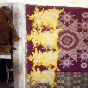 Sheep's skins drying. Fez, Morocco.