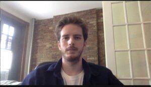 A zoom screenshot of Danny Karel.
