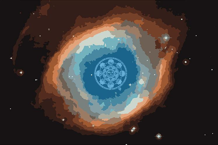 Nebula with Horoscope